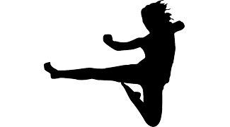 female kickboxer