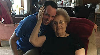 Guy Hamilton and grandmother